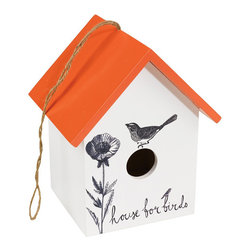 Ink Daisy Bird Cottage - A kind person has a bird house. A kind and thoughtful person has the Ink Daisy Bird Cottage. Your birds will be so lucky to have such a cozy roof over their head. And your garden will have even more charm.