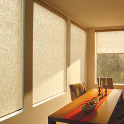 Designer Roller Screen Shades - Dardene Prarie - Simplistic and sleek were the goals with this room and these roller shades really allowed that to happen. A simple, yet stylish is brought to the room with these shades.