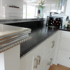 traditional kitchen countertops by Pewter by Design