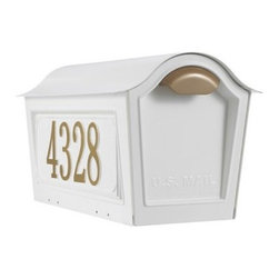 Whitehall Chalet Mailbox with Side Plaques - About WhitehallWhitehall is the world's largest manufacturer of weathervanes but the business points a lot more ways than east west north and south. Inspired by traditional handcrafted designs and quality Whitehall also makes gorgeous mailboxes address plaques and outdoor accents. They're based in western Michigan building American tradition and quality into every product they make.