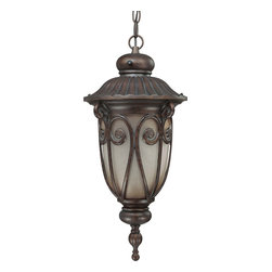 Nuvo Lighting - Nuvo Lighting 60-3928 Corniche ES 1-Light Hanging Lantern - Nuvo Lighting 60-3928 Corniche ES 1-Light Hanging Lantern (1) 18w GU24 Lamp Included
