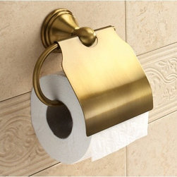 Gedy - Bronze Toilet Roll Holder With Cover - Decorative, vintage style toilet roll holder/toilet paper holder with cover. Made in brass with bronze finish. Wall mounted toilet roll holder with cover. Made of bronze finished brass. From Gedy Romance Collection.
