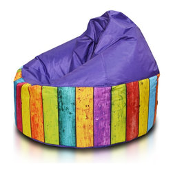 Turbo BeanBags - Beanbag Cake Modern, Violet And Dg3, Filled Bag - Cake modern is a modern stylish seat from Turbo BeanBags.