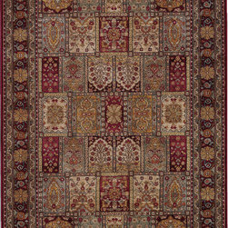 """Karastan - Karastan Antique Legends 2200-00202 (Multi) 8'8"""" x 10' Rug - 'Antique Legends' is a breathtaking collection of Axminster rugs with a 'vintage' finish. Styling is based on some of Karastan's...and the world's...most legendary antique carpet designs, yet the interpretation is fresh; and the colors are perfect for today's eclectic interiors. Karastan designers, utilizing multiple shades of a color within the design motifs, painstakingly recreate the 'abrash' or stria effect often found in aged vegetable dyes. After weaving, 'Antique Legends' rugs are given a special antique wash to further harmonize the colors with a rich 'vintage' patina."""