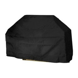 Mr Bar B Q - Large Grill Cover - Mr. Bar-B-Q Backyard Basics Eco-Cover Large Grill Cover is made of Eco-tech material that is 100% PVC free. Dual-function layers for added strength & weather resistance.  Specifically coated for enhanced water protection.  Material resists extreme temperatures.  Protects your property from dirt, dust, pollen, sap & rain.  Drawstring closure for a secure fit. Size: 65 in x 20 in x 40 in.
