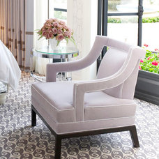 Transitional Living Room Chairs by Jamie Herzlinger