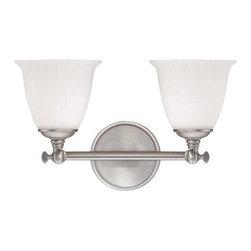 Savoy House - Savoy House 8-6830-2 Bradford Two Light Bathroom Fixture - Features: