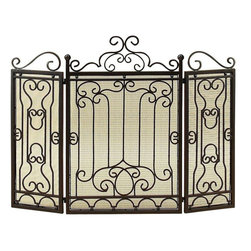Benzara - Metal Fire Screen - Do have passion for decoration? If yes, why do you limit this hobby just to the drawing room or garden? Some other spots too in the house need your attention. Bring home the best of decorative protection and privacy screens to bring completeness to existing decor. Just have a look over 90569 Metal FIRE SCREEN