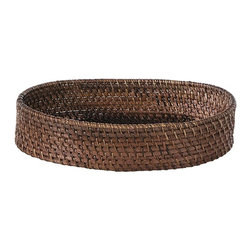 Eco Displayware - Deep Rattan Bread Tray in Espresso - Earth friendly. 15 in. L x 10 in. W x 4 in. H (2.18 lbs.)Using these tray baskets can add an old world touch to your dining table.