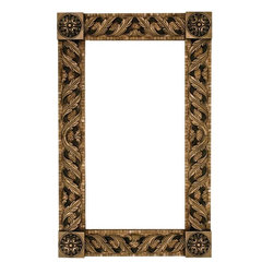 Landmark Metalcoat Mosaic Mirror Frame Trellis, Brass High Polish - All Landmark Metalcoat products are made to order. lead time 3 -5 weeks. Proudly made in the USA. Mesh mounted for easy installation.