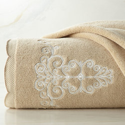 """French Perle"" Embroidered Towels -"
