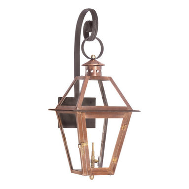 ELK - Elk Lighting 7931-WP Outdoor Gas Shepherd's Scroll Wall Lantern Grande Isle - Outdoor Gas Shepherd's Scroll WallLantern Grande Isle Collection In Solid Brass With AnAged CopperFinish.