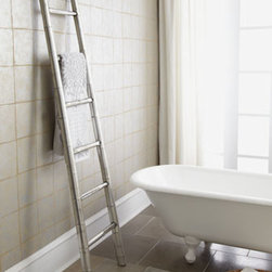 Horchow - Bamboo Towel Rack - Exclusively ours. We've seen ladders like these used as towel racks in fine hotels and spas and think it's a great idea. More than merely functional, its sleek, bold lines add a sculptural presence while emphasizing the height of your bath. It's also....