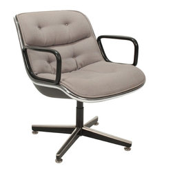 Knoll - Consigned Mid Century Modern Desk Chair Designed by Charles Pollock for Knoll - • Mid Century Modern