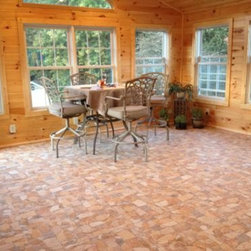 Attica Beige - Flagstone-look tile warmed up this sunroom and completed the rustic look. Photo by Home Depot customer RESPSS77