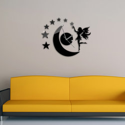 Fairy Girl Wall Decal Clock - Package Include: