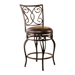 Holly and Martin - Hanover Swivel Counter Stool - Improve your home with stylish convenience. The elegant scrollwork and curved legs of this counter stool create a refined, contemporary look.
