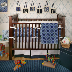 New Arrivals Kaliedoscope Crib Bedding Set - Offering a stimulating pattern for your baby while thrilling your modern sensibilities, this Kaliedoscope bedding set adds a pleasant amount of detail to your nursery without overpowering its calm.