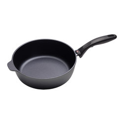 Swiss Diamond - Swiss Diamond Nonstick 3.8-Quart Sauté Pan - Oh the Swiss! They're known for impeccable workmanship and this sauté pan is a perfect example. Nonstick, too, so you don't have to scrub or soak. It handles high temperatures and metal utensils. Bring on the caramelized onions!