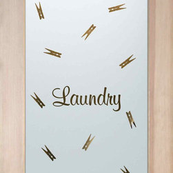 , as laundry door glass insert only or pre-installed in a door frame ...