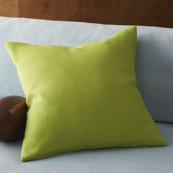 "linon sour apple 20"" pillow with feather-down insert -"