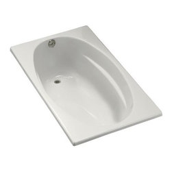 "KOHLER - KOHLER K-1142-0 ProFlex 6036 5' Bathtub in White - KOHLER K-1142-0 ProFlex 6036 5' Bathtub in WhiteBring dramatic design and functional elegance to the bath or powder room with a ProFlex(R) bath. This 5' model offers a distinctive, oval shaped basin and is constructed of high-quality acrylic for durability and luster.Please see our Delivery Notes for Freight Shipments for products that are oversized and/or are too heavy to ship UPS ground. KOHLER K-1142-0 ProFlex 6036 5' Bathtub in White, Features:• 60""L x 36""W x 18-1/8""H"