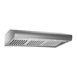 Kobe 36W in. CH27 Series Under Cabinet Range Hood - Low-profile design is efficient yet inconspicuousQuietMode setting allows hood to operate at 280 CFM at a reduced sound level of 40 decibels (1.0 sone); other hoods operate at 6-8 sones at that CFM levelTime Delay System with 3-minute delay shutoff or immediate shutoffECO Mode runs the fan on the QuietMode setting for 10 minutes every hour, removing excess moisture and microscopic particles that cause odors for cleaner, fresher kitchen airTwo 3W LED lights with 3-level lighting for a bright, safe cooking experienceEasy-to-empty catch areas and smooth hood surface for deep cleaning without disassembling the hoodExhaust options: Top 6-inch round, Top 3.25 x 10 inch rectangular, or Rear 3.25 x 10 inch rectangularAbout KOBE Range HoodsA world leader in quiet kitchen ventilation, Kobe Range Hoods are designed by the Japanese-based Tosho & Company, Ltd. Their products feature revolutionary QuietMode technology, inspiring their motto: So Quiet… You Won't Believe It's On! The result of extensive research and development, the innovative QuietMode feature allows you to operate your range hood without irritating fan noise while cooking or entertaining guests in the kitchen. Kobe Range Hoods has been providing quality products and exceptional customer service in the United States and Canada for over 40 years.
