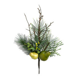 Silk Plants Direct - Silk Plants Direct Twig, Pine Cone, Pear and Pine Pick (Pack of 12) - Pack of 12. Silk Plants Direct specializes in manufacturing, design and supply of the most life-like, premium quality artificial plants, trees, flowers, arrangements, topiaries and containers for home, office and commercial use. Our Twig, Pine Cone, Pear and Pine Pick includes the following:
