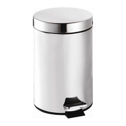 Croydex - Small Pedal Trash Can - QA107205YW - Manufacturer SKU: QA107205YW. Professional Range. 3 liter (.78 gallon) capacity. Stainless Steel Finish. High Quality Polished finish. Free Standing. 6.69 in. W x 9.06 in. L x 10.63 in. HA comprehensive range of bathroom accessories that is ideal for commercial applications such as hotels and housing developments. The stylish design compliments any bathroom setting and the range covers everything from towel racks and toilet roll holders to bottle openers and washing lines for over the bath!
