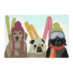 """Trans-Ocean Inc - Ski Patrol Multi 24"""" x 36"""" Indoor/Outdoor Rug - Richly blended colors add vitality and sophistication to playful novelty designs. Lightweight loosely tufted Indoor Outdoor rugs made of synthetic materials in China and UV stabilized to resist fading. These whimsical rugs are sure to liven up any indoor or outdoor space, and their easy care and durability make them ideal for kitchens, bathrooms, and porches; Primary color: Multi;"""