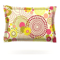 """Kess InHouse - Louise Machado """"Poa"""" Pillow Sham (Woven, 40"""" x 20"""") - Pairing your already chic duvet cover with playful pillow shams is the perfect way to tie your bedroom together. There are endless possibilities to feed your artistic palette with these imaginative pillow shams. It will looks so elegant you won't want ruin the masterpiece you have created when you go to bed. Not only are these pillow shams nice to look at they are also made from a high quality cotton blend. They are so soft that they will elevate your sleep up to level that is beyond Cloud 9. We always print our goods with the highest quality printing process in order to maintain the integrity of the art that you are adeptly displaying. This means that you won't have to worry about your art fading or your sham loosing it's freshness."""