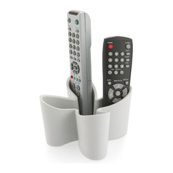 j-me - Cozy Remote Control Caddy, Cool Gray - No more searching for your remote controls, now you can have a home for them all with the Cozy Remote Control Caddy. Constructed of non slip rubber this eye-catching designer caddy stores up to four (4) remote controls. This tasteful solution adds a visual splash of style to your living room!