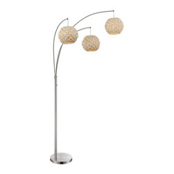 Lite Source - Lite Source LS-82268 Linterna 3 Light Floor Lamp - Features: