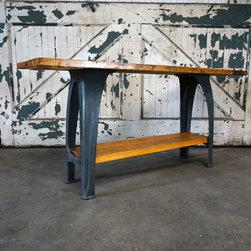 Maple Top Table on Cast Iron - Ironsandduck