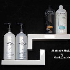 Modern Shower Caddies by Bathroom Tile Shower Shelves