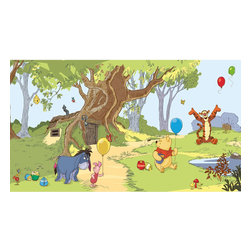 York Wallcoverings - Disney Pooh Friends Tigger Giant Wallpaper Accent Mural - Features: