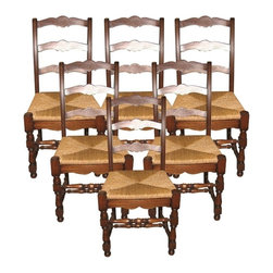 EuroLux Home - New Chair Oak French Country Set 6 Oak - Product Details
