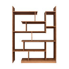 brave space design - Bamboo Stagger Metro - Rethink your notion of shelf space with this innovative bamboo shelving unit. Bring all your creative powers to this unique display system, with varying heights and widths perfectly balanced to be pleasing to your eye. Now you can create an installation of your cherished belongings that invites curiosity.