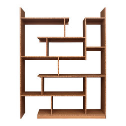brave space design - Bamboo Stagger Metro Shelving - Rethink your notion of shelf space with this innovative bamboo shelving unit. Bring all your creative powers to this unique display system, with varying heights and widths perfectly balanced to be pleasing to your eye. Now you can create an installation of your cherished belongings that invites curiosity.