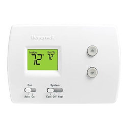HONEYWELL - THERMOSTAT NON-PROGRAMMABLE DIGITAL1H/1C PRO 3000 - | Pro 3000 1H/1C | Easy-to-read backlit display - easy to read in various lighting conditions. Shows both current and set temperatures at the same time. Precise comfort control (+/-1