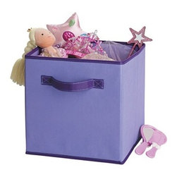 Circo Shy Lavender Fabric Drawer - My girls have quite a few of these in their closets. They are easy to arrange and pack with toys and stuffed animals.