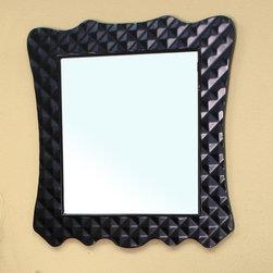Bellaterrra - Bellaterra 203057B Solid Wood Frame Mirror - Black - 31.5x2x34.1 in. - Bellaterra 203057B Solid Wood Frame Mirror - Black  - 31.5x2x34.1 in.
