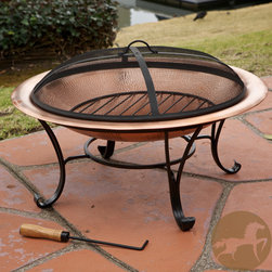 Christopher Knight Home - Christopher Knight Home Marconi Copper Fire Pit - For added fun and warmth to your backyard, look no further than this Marconi copper fire pit. With a beautiful copper fire pit and iron lid and legs, this piece will complement any outdoor decor.