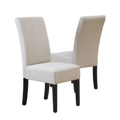 Stella Natural Linen Fabric Dining Chair, Set of 2