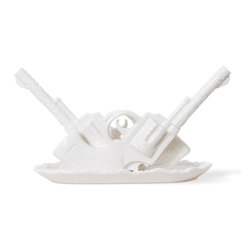 Imm Living - Duello Jewelry Holder - Go ahead, reach for the sky. This dueling quick draw ceramic jewelry holder is for the gal who ain't no more 'fraid to fetch a diamond bracelet than she is a wild horse. So go ahead — draw!