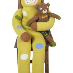 Giant Lemonade Doll - This huge happy guy is large and soft enough to be not only a friend for your child, but a soft throw pillow as well. Three feet tall, this giant doll adds softness, color, and whimsy to a child's bedroom.