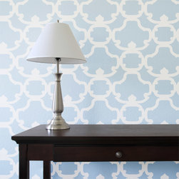 Stencil Ease - Hanover Damask Wall Painting Stencil - This bold and modern Hanover Damask Wall Painting Stencil is perfect to spice up a room - you can use it for one wall as an accent wall or paint a piece of furniture that will make a statement!