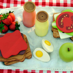 Wooden Play Food Picnic Set Lunch for Two by Wild Marigold