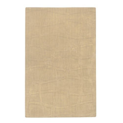 Surya Rugs - Sculpture Designer Hand Loomed 100% Wool Ivory Rug SCU-7509 - 100% Wool. Style: Designer. Rugs Size: 5' x 8'. Note: Image may vary from actual size mentioned.