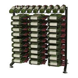"VintageView - VintageView 180 Bottle Aisle Wine Rack, Satin Black - The versatility of this compact VintageView wine rack extends beyond home to business and retail applications. Perfect as a home wine room centerpiece and great for retail wine displays, these racks withstand heavy use and maintain ""that new look."" All the hardware you need is included in the package."